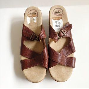 Dansko Leather Strappy Sandals 12